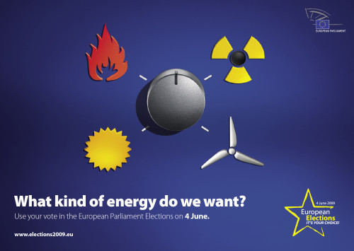 EU elections 09 poster: energy